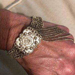 Vintage Guang Tong Bracelet with Fringe Unique